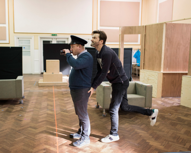 Adrian Scarborough and David Tennant