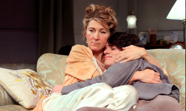 Eve Best (Olivia Brown) and Edward Bluemel (Michael Brown) in Love in Idleness