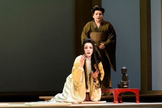 Ermonela Jaho as Cio-Cio-San and Elizabeth DeShong as Suzuki in Madama Butterfly (ROH)
