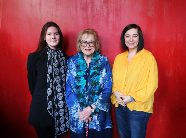 Cordelia Lynn, Lady Antonia Fraser and Vicky Featherstone