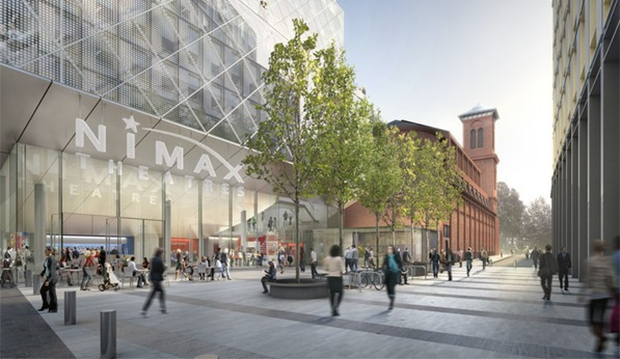 Architect's rendering of the proposed plans near Tottenham Court Road