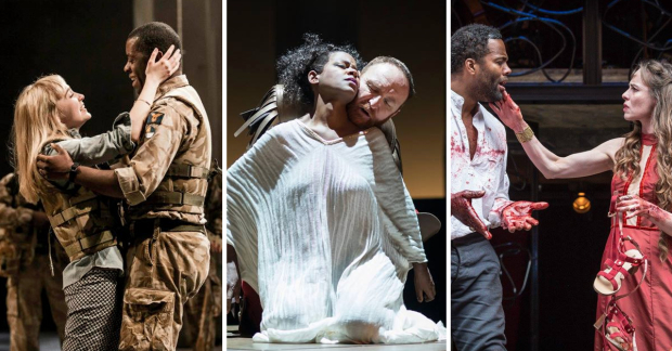 Olivia Vinall (Desdemona), Adrian Lester (Othello), Josette Simon (Cleopatra), Antony Byrne (Mark Antony), Ray Fearon (Macbeth) and Tara Fitzgerald (Lady Macbeth)