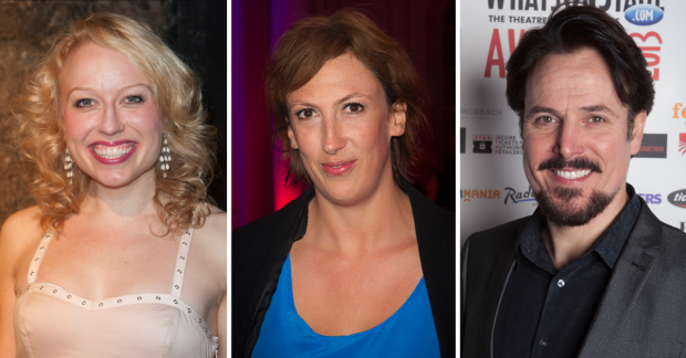 Holly Dale Spencer, Miranda Hart and Alex Bourne