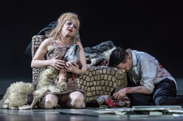 Sally Matthews as Silvia de Ávila and Iestyn Davies as Francisco de Ávila in The Exterminating Angel (ROH)