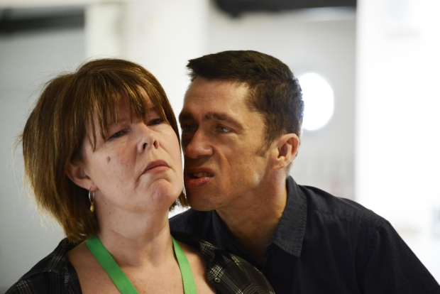 Ruth Alexander-Rubin and Mat Fraser in rehearsals for Richard III