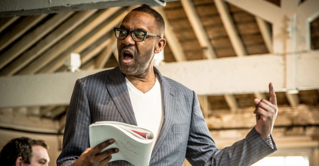 Lenny Henry in rehearsals for The Resistible Rise of Arturo Ui