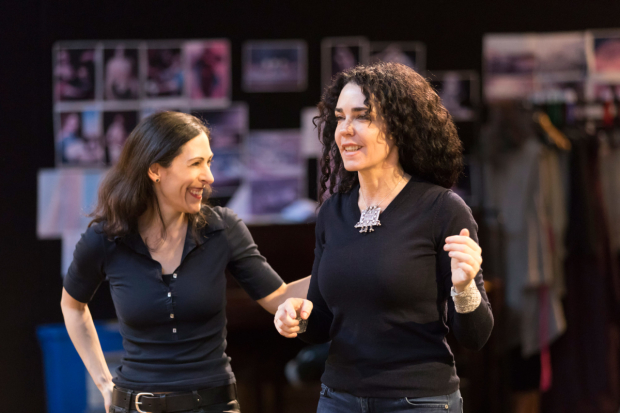 Ami Shulman movement director and Yaël Farber in rehearsals for Salome
