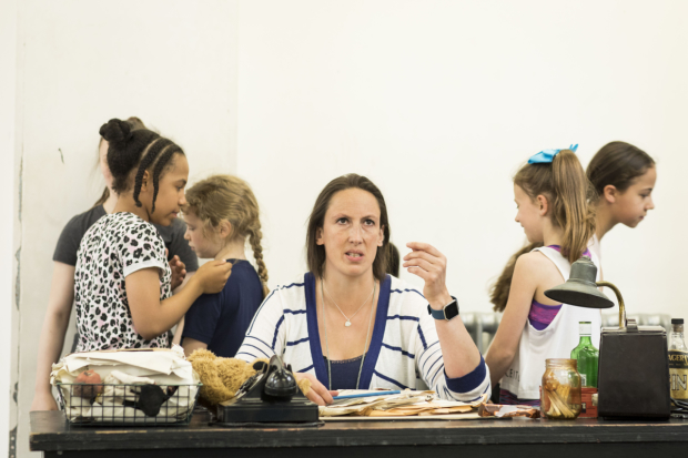 Miranda Hart in rehearsals for Annie