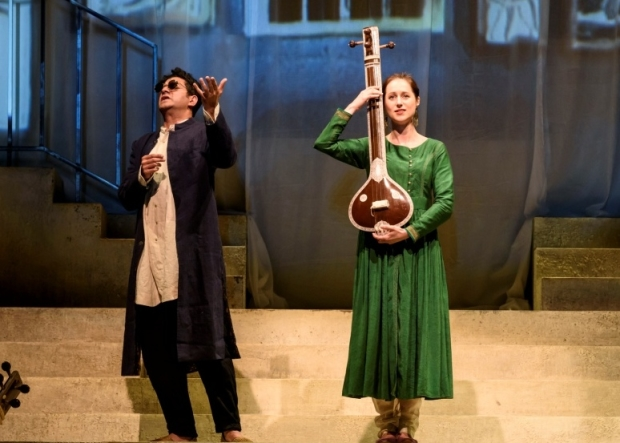 Alok Kumar as Chyavana and Susanna Hurrell as Sukanya in Sukanya (ROH/LPO/Curve)