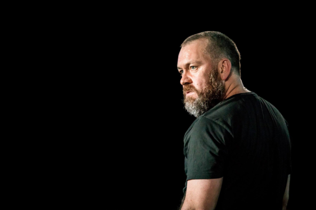 Brendan Cowell as Galileo in Life of Galileo