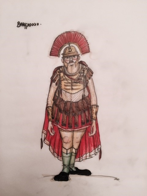 A costume drawing for Vice Versa