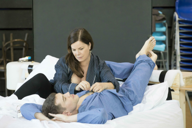 Marcia Gay Harden and Brian J Smith in rehearsal for  Sweet Bird of Youth