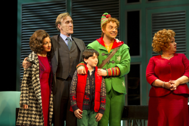 Producers of Elf: The Musical are looking for an actor to play Michael Hobbs (pictured centre)