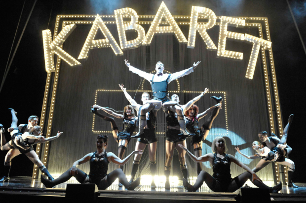 Will Young as the Emcee and the cast of Cabaret