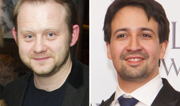 Michael Jibson and Lin-Manuel Miranda