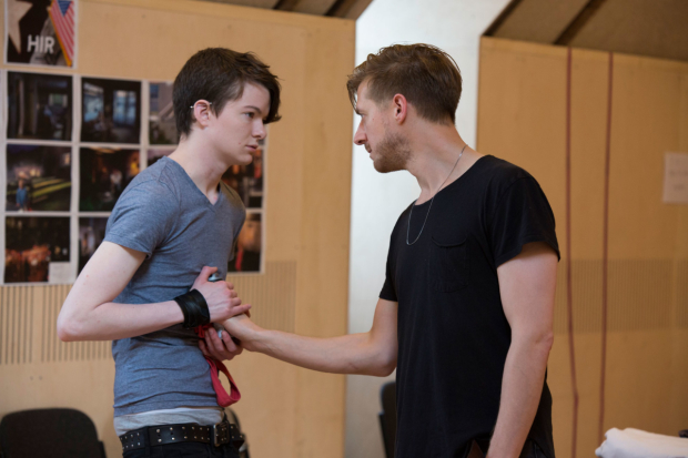 Griffyn Gilligan and Arthur Darvill in rehearsals for Hir at the Bush Theatre