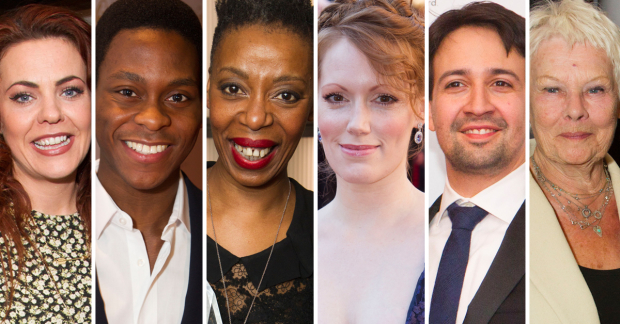 Rachel Tucker, Tyrone Huntley, Noma Dumezweni, Clare Foster, Lin-Manuel Miranda and Judi Dench