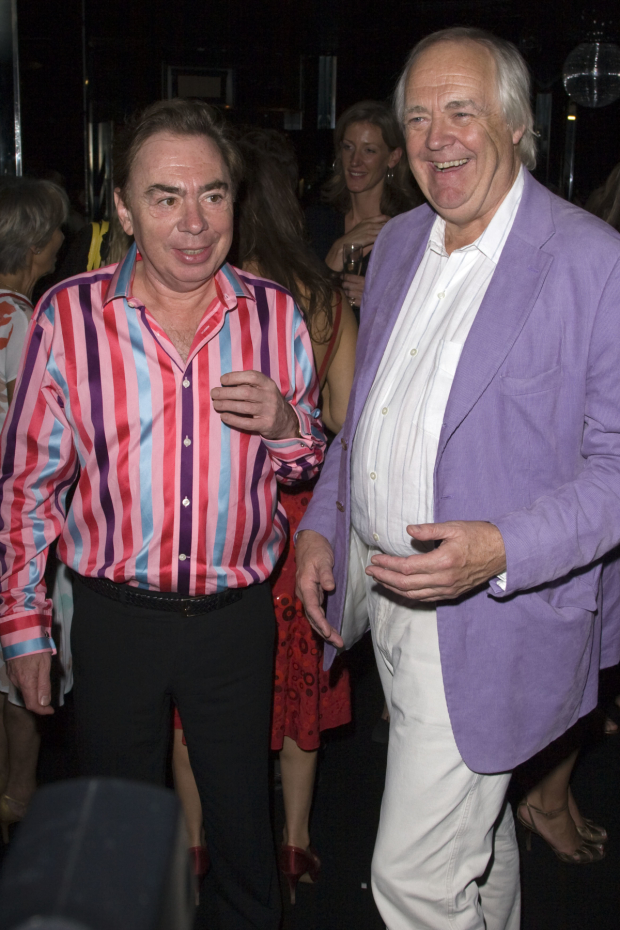 Andrew Lloyd Webber and Tim Rice attend the press night for Joseph and the Amazing Technicolor Dreamcoat in 2007.