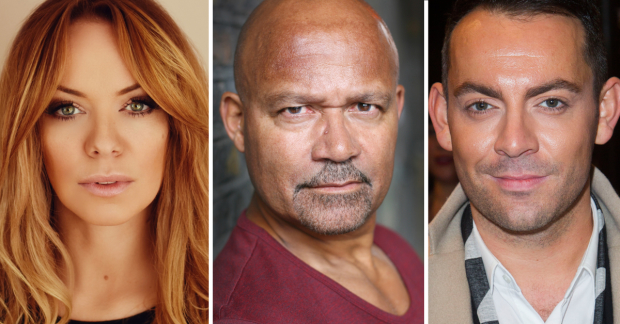 Liz McClarnon, Louis Emerick and Ben Forster