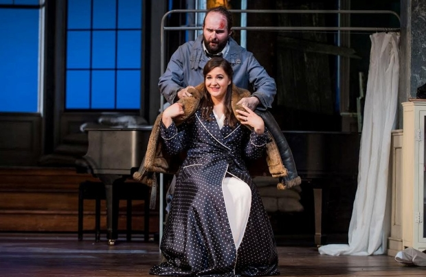 AJ Glueckert as Bacchus and Lise Davidsen as  Ariadne in Ariadne auf Naxos (Glyndebourne)