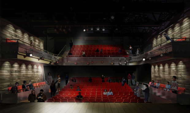 Architects rendering of the new Tricycle Theatre auditorium