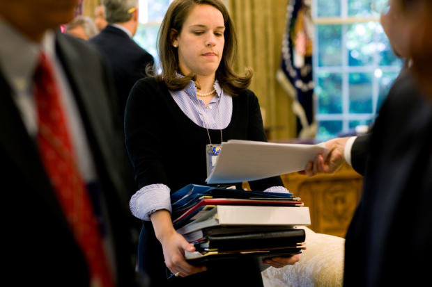 A busy press secretary at the White House: much like Sonia's day-to-day job.