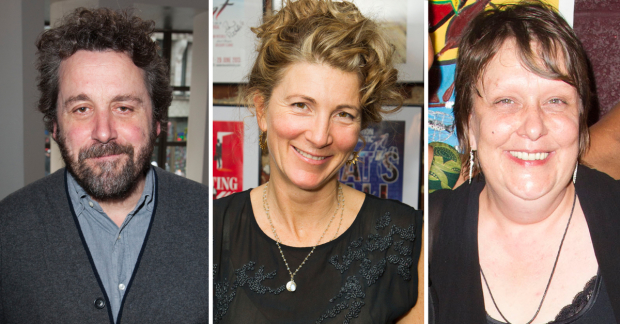 Dominic Dromgoole, Eve Best and Kathy Burke