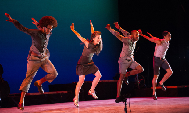 Dorrance Dance company in ETM: Double Down