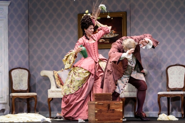 Lisette Oropesa as Norina and Renato Girolami as Don Pasquale in Don Pasquale (Glyndebourne)