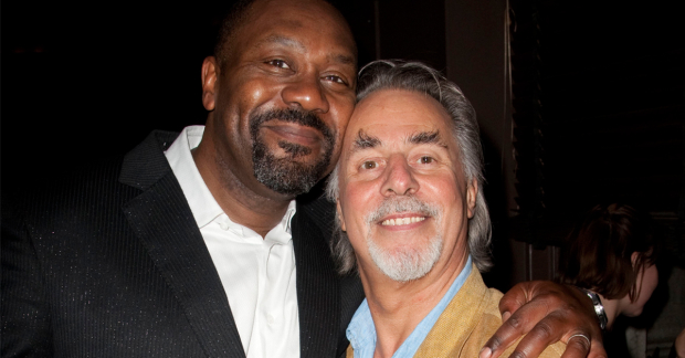 Barrie Rutter with Lenny Henry in 2009