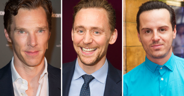 Benedict Cumberbatch, Tom Hiddleston and Andrew Scott
