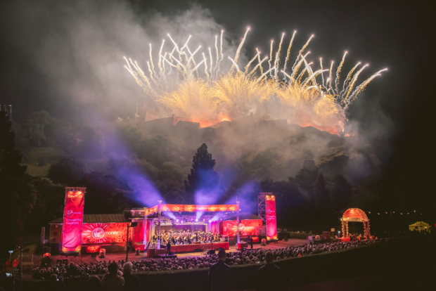 The Virgin Money fireworks concert which close the Edinburgh International Festival last night