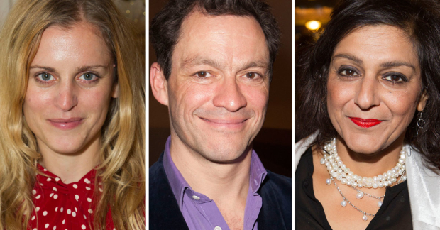 Denise Gough, Dominic West and Meera Syal