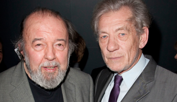 Peter Hall with Ian McKellen in 2010