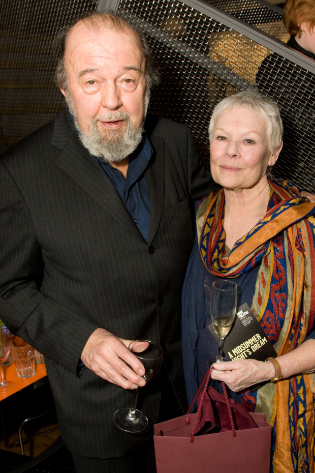 Peter Hall with Judi Dench at the Rose Theatre in 2010