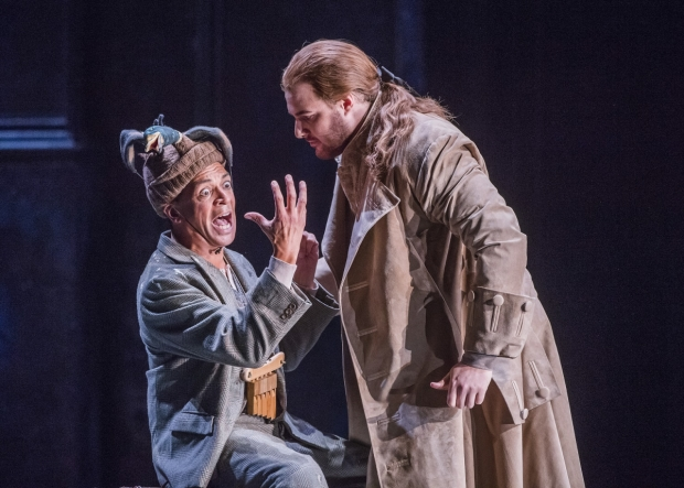 Roderick Williams as Papageno and Mauro Peter as Tamino in The Magic Flute (Die Zauberflöte) (ROH)