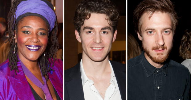 Sharon D Clarke, Louis Maskell and Arthur Darvill, nominated for Caroline, Or Change, The Grinning Man and Fantastic Mr Fox
