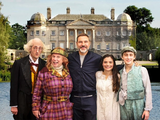 The cast of Awful Auntie with David Walliams