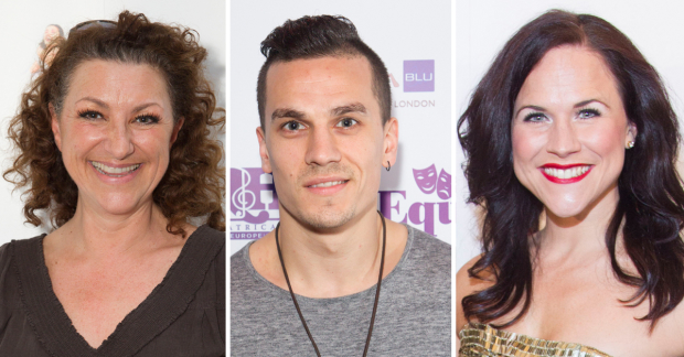 Kim Ismay, Aaron Sidwell and Amy Ross