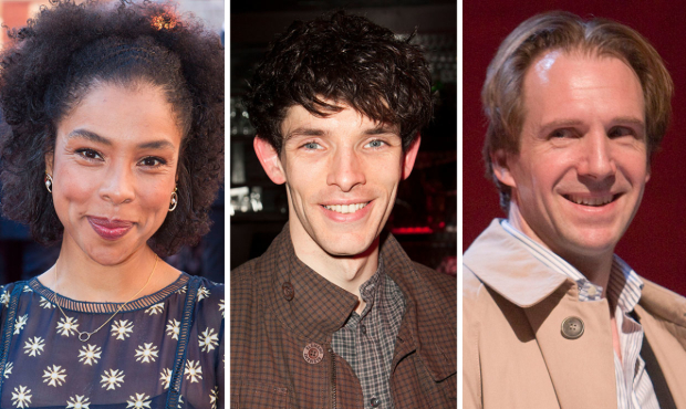 Sophie Okonedo, Colin Morgan and Ralph Fiennes
