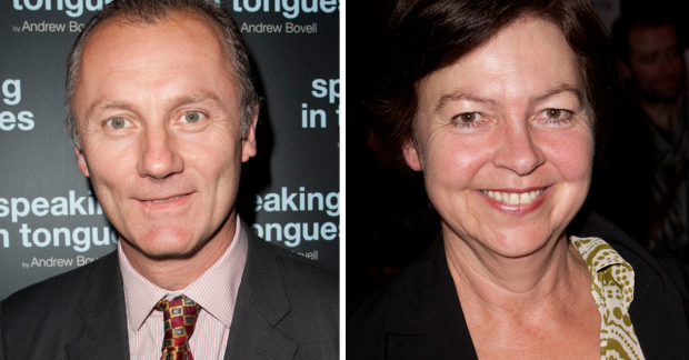 Aden Gillett and Tessa Peake-Jones