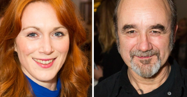 Laura Rogers and David Haig