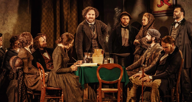 Rory Kinnear and the cast of Young Marx