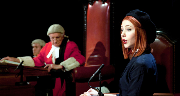 Patrick Godfrey and Catherine Steadman in Witness for the Prosecution