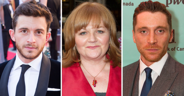 Jonathan Bailey, Lesley Nicol and Ben Batt