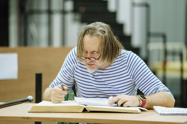 Jasper Britton in rehearsals for Scrooge