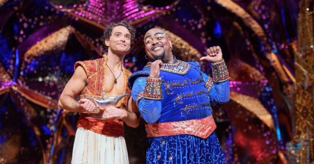 Matthew Croke and Trevor Dion Nicholas in Aladdin