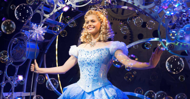 Sophie Evans as Glinda in Wicked
