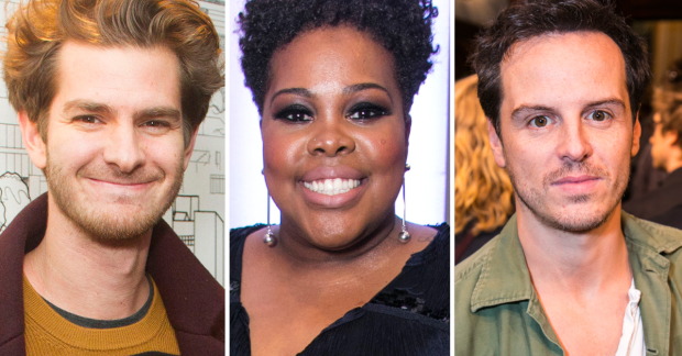 Andrew Garfield, Amber Riley and Andrew Scott