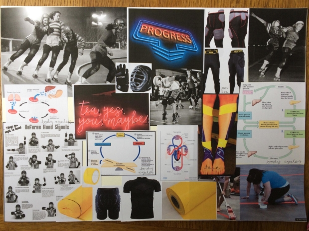 The mood board for the set of Roller